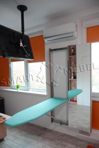 Mirror ironing board closet