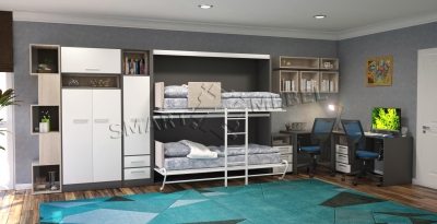 Furniture set with wardrobe bed Moon