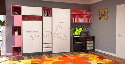 Комплект мебели со шкафом-кроватью Helfer 90 V