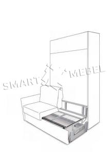 Механизм трансформации шкаф кровать диван Aladino 1200; 1400; 1600; 1800мм (Италия)