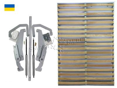 A set of fittings for a wardrobe-bed 2000x1600 on gas lifts (Ukraine)