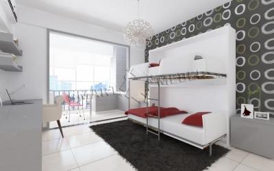 Двухъярусная Шкаф-Кровать ONEY