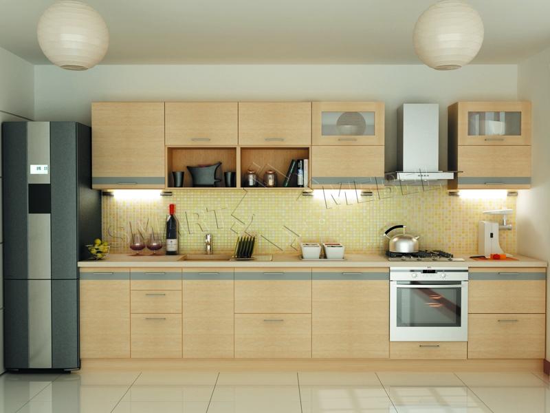 Кухня молочного цвета фото