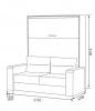 Шкаф-кровать-диван HF PLUS-160 K2 - фото 2